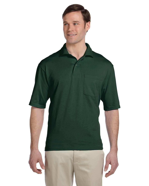 Jerzees Adult SpotShield™ Pocket Jersey Polo FOREST GREEN