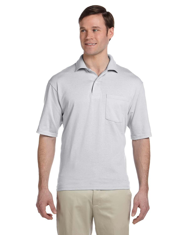 Jerzees Adult SpotShield™ Pocket Jersey Polo ASH