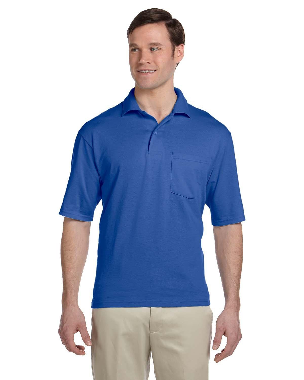 Jerzees Adult SpotShield™ Pocket Jersey Polo ROYAL