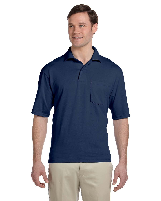 Jerzees Adult SpotShield™ Pocket Jersey Polo J NAVY