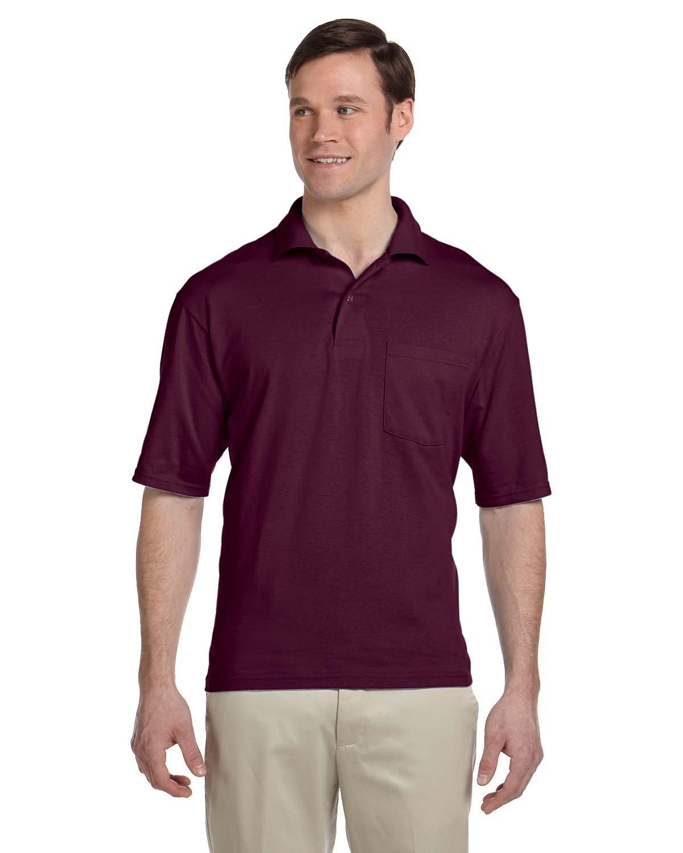 Jerzees Adult SpotShield™ Pocket Jersey Polo MAROON