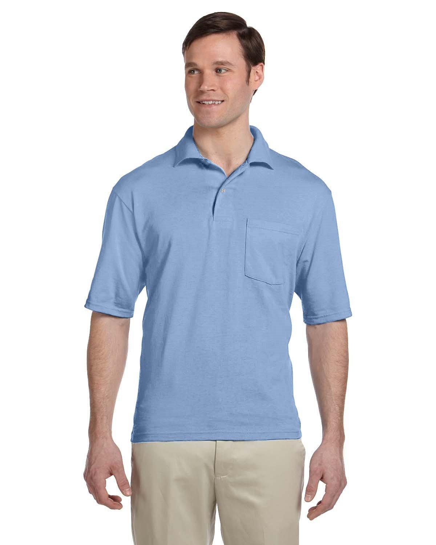 Jerzees Adult SpotShield™ Pocket Jersey Polo LIGHT BLUE