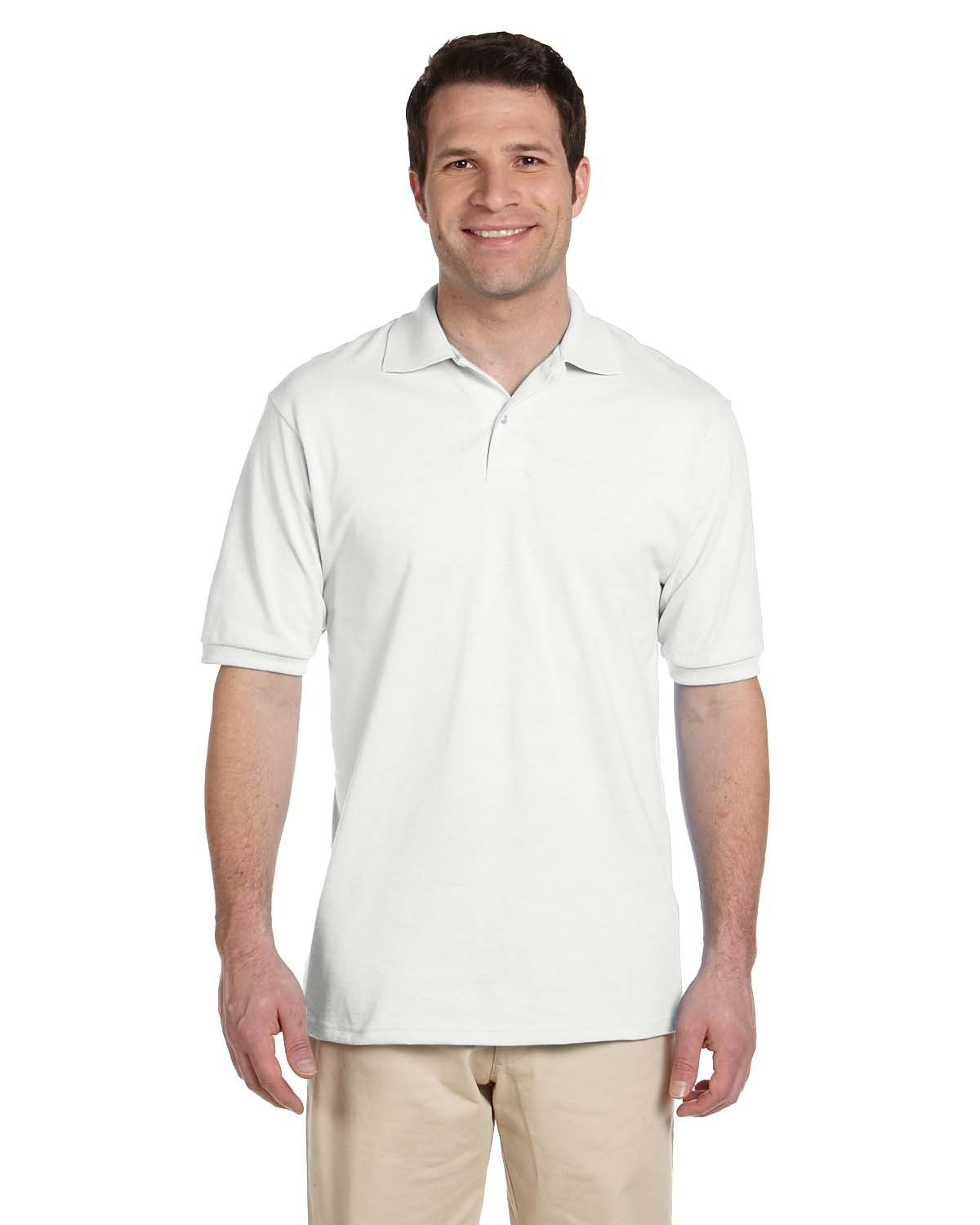 Jerzees Adult SpotShield™ Jersey Polo WHITE