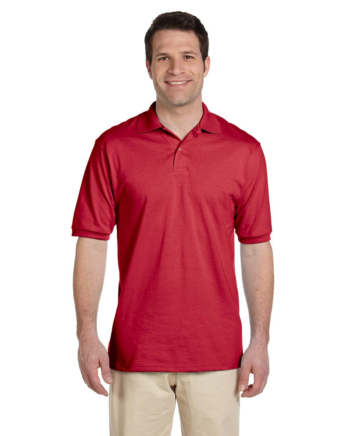 Jerzees Adult SpotShield™ Jersey Polo TRUE RED
