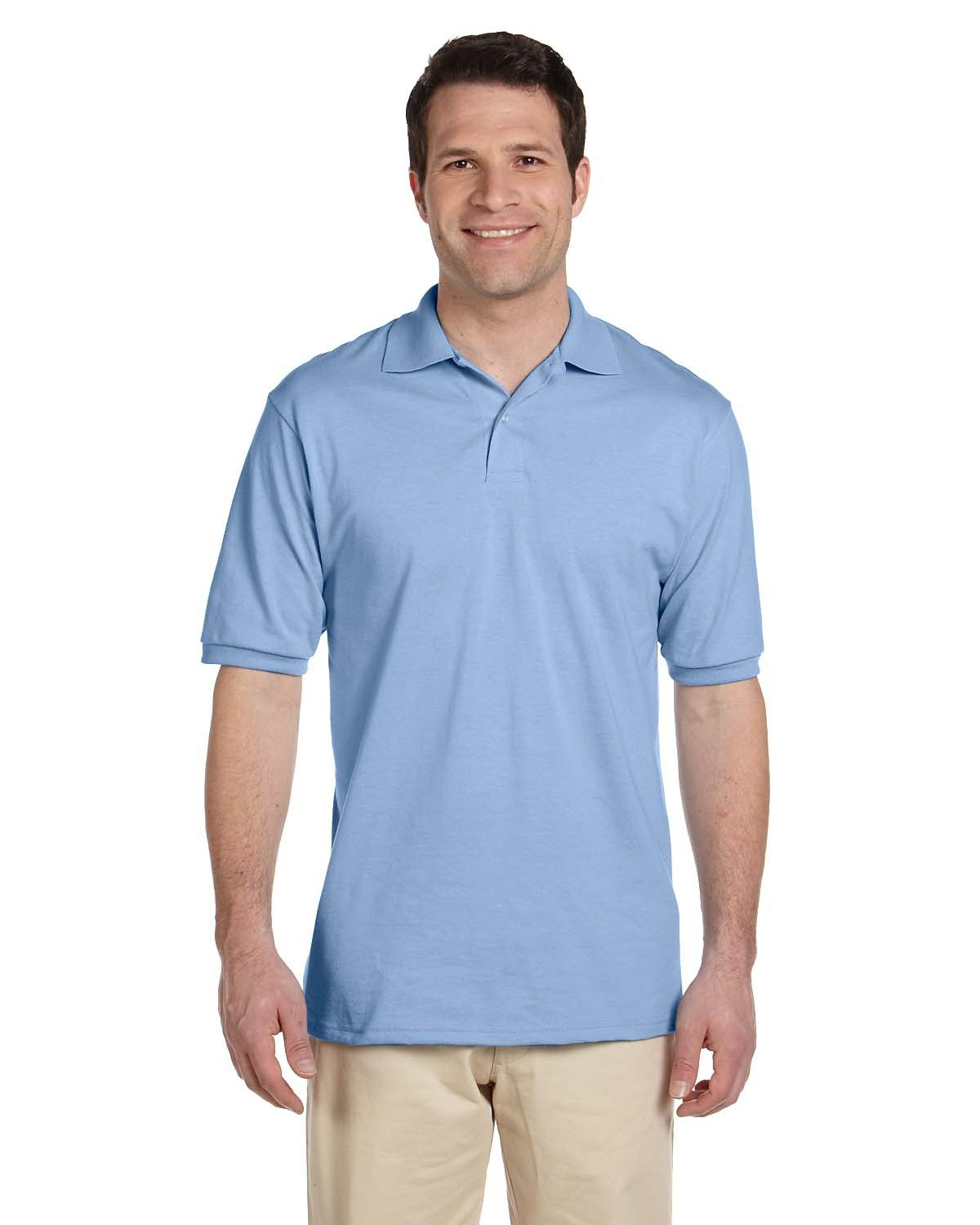Jerzees Adult SpotShield™ Jersey Polo LIGHT BLUE