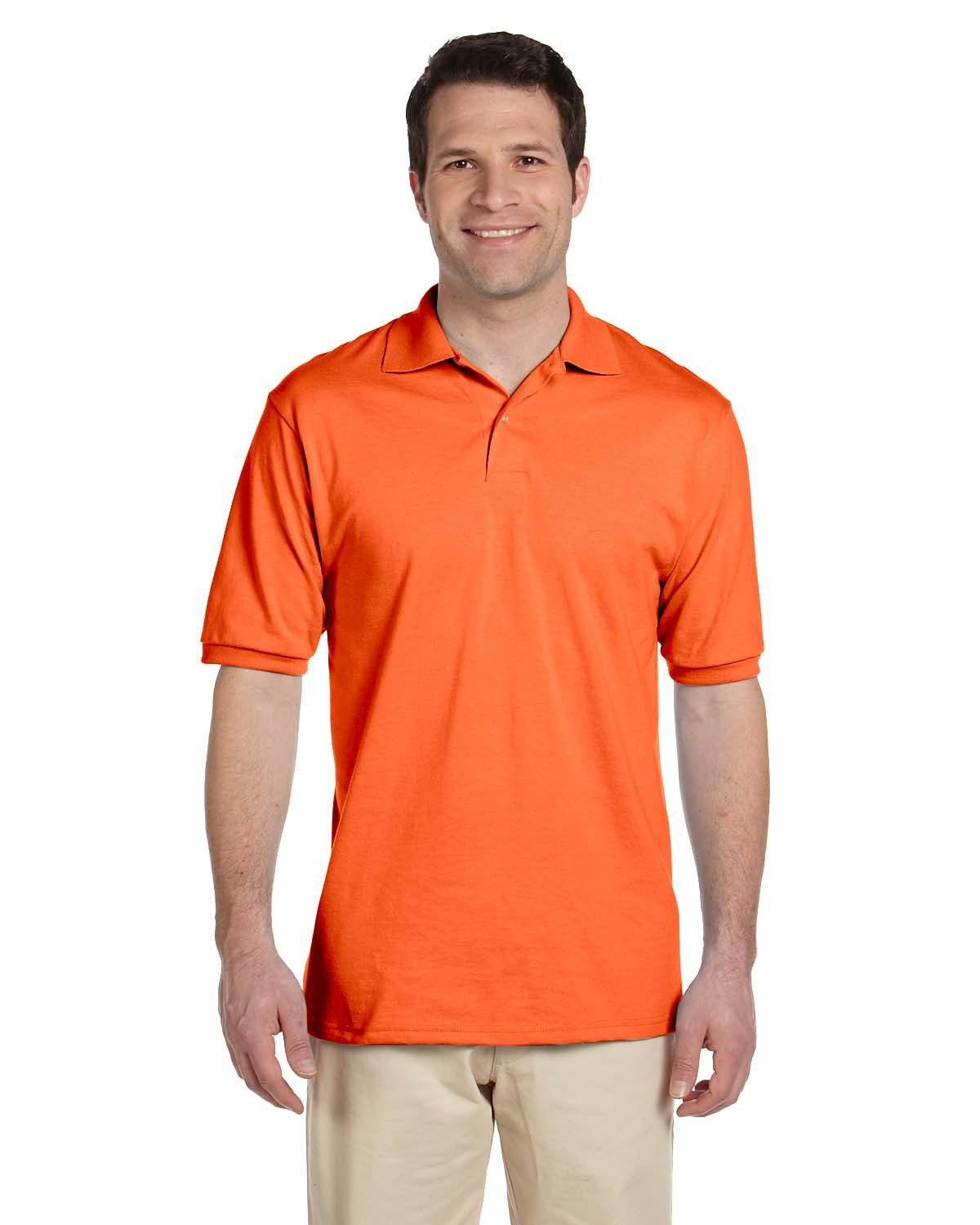 Jerzees Adult SpotShield™ Jersey Polo SAFETY ORANGE