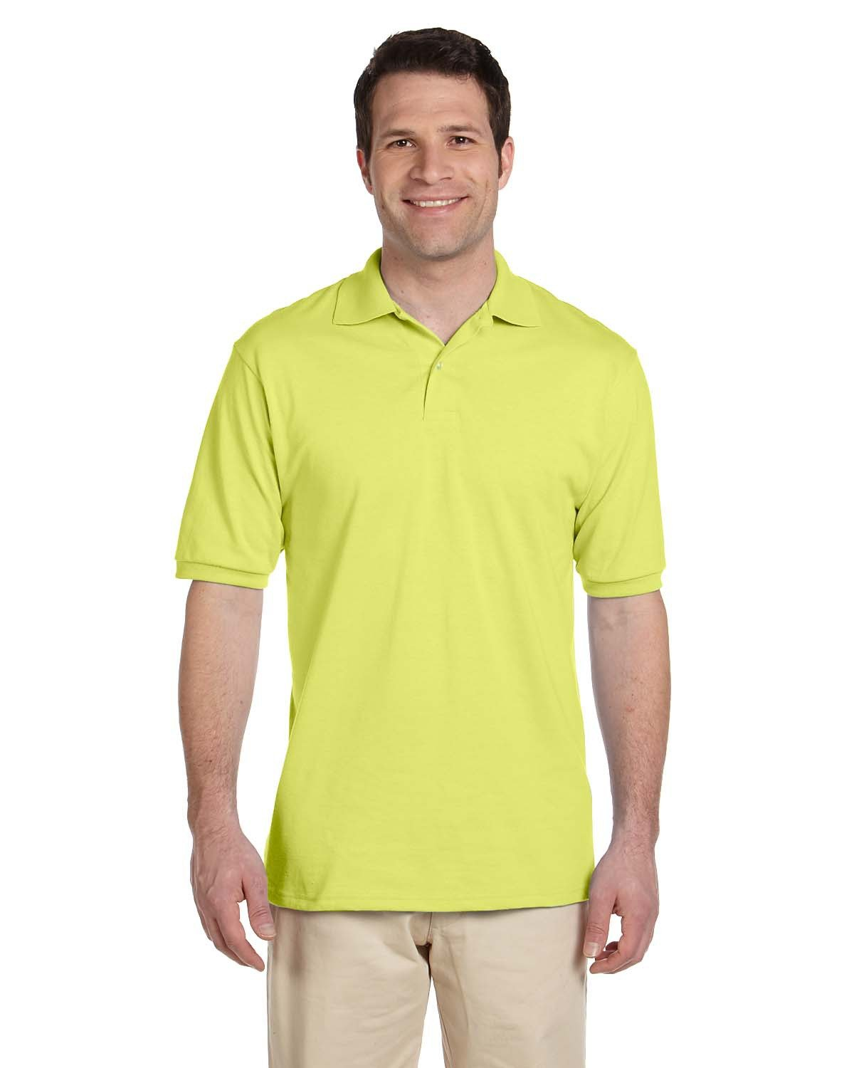 Jerzees Adult SpotShield™ Jersey Polo SAFETY GREEN
