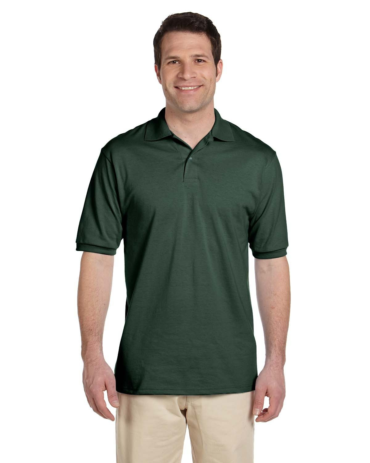 Jerzees Adult SpotShield™ Jersey Polo FOREST GREEN