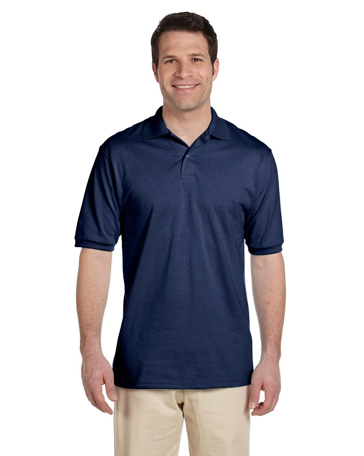 Jerzees Adult SpotShield™ Jersey Polo J NAVY