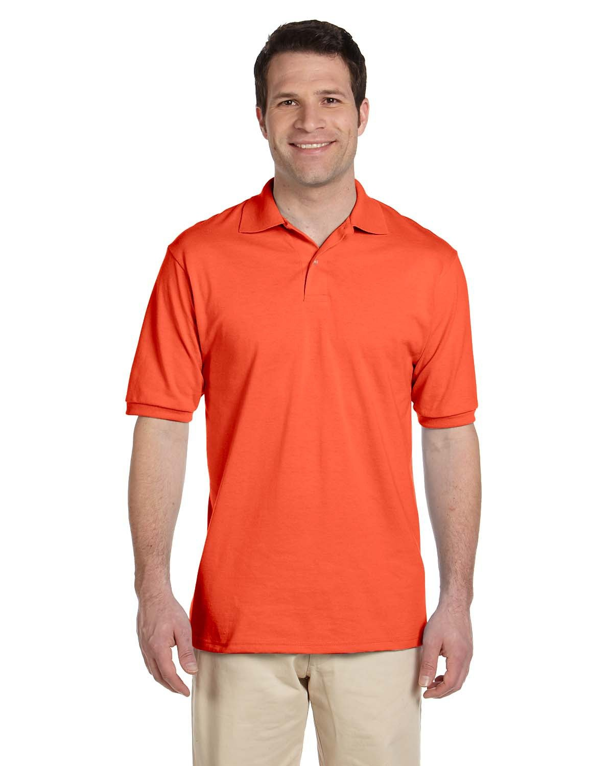 Jerzees Adult SpotShield™ Jersey Polo BURNT ORANGE