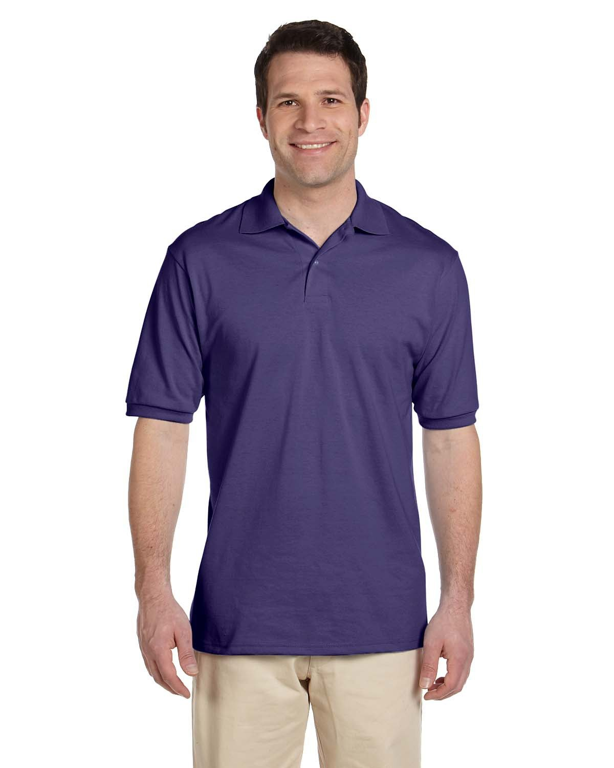 Jerzees Adult SpotShield™ Jersey Polo DEEP PURPLE