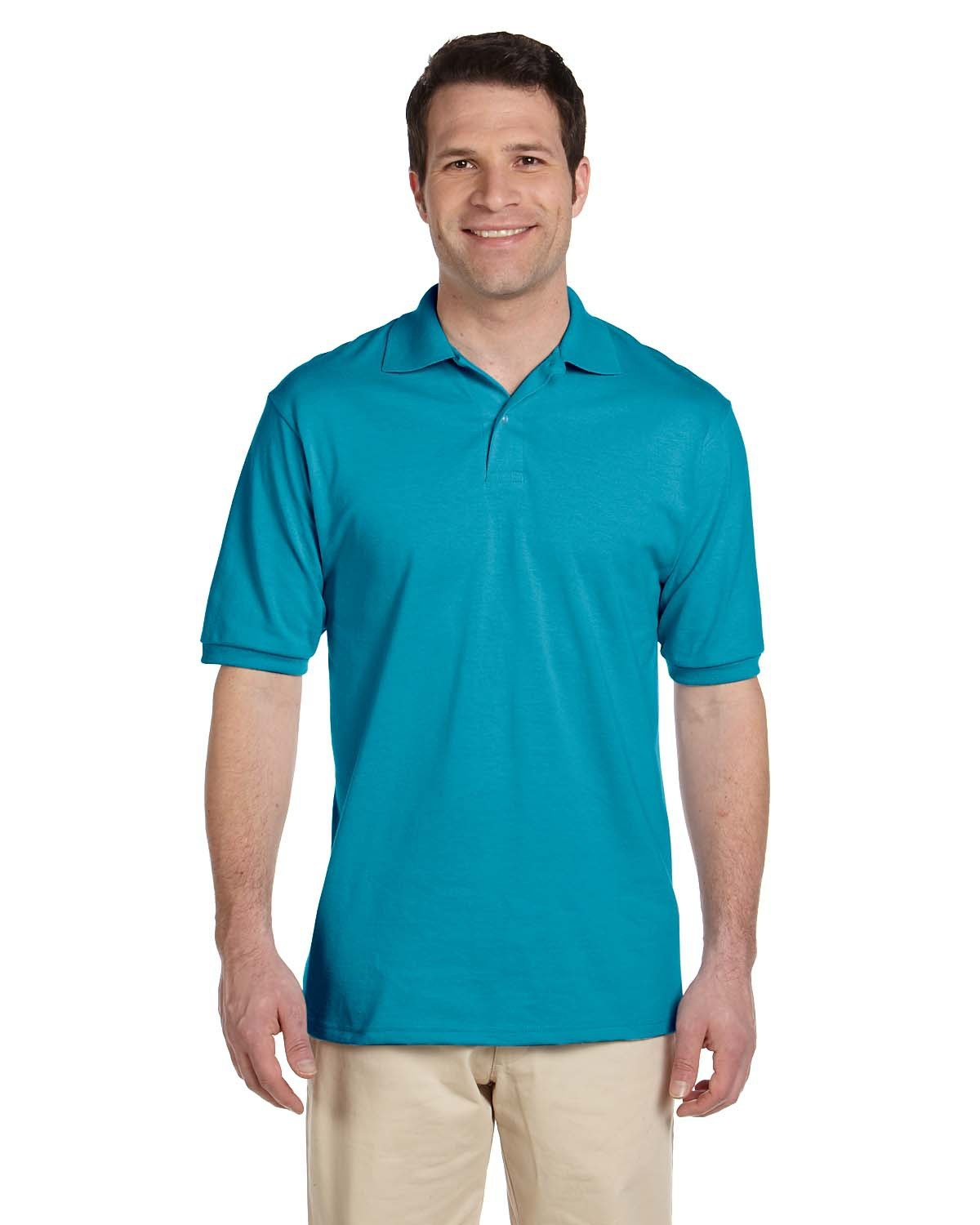Jerzees Adult SpotShield™ Jersey Polo CALIFORNIA BLUE