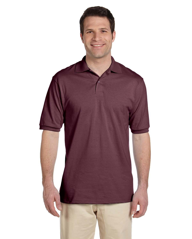Jerzees Adult SpotShield™ Jersey Polo MAROON