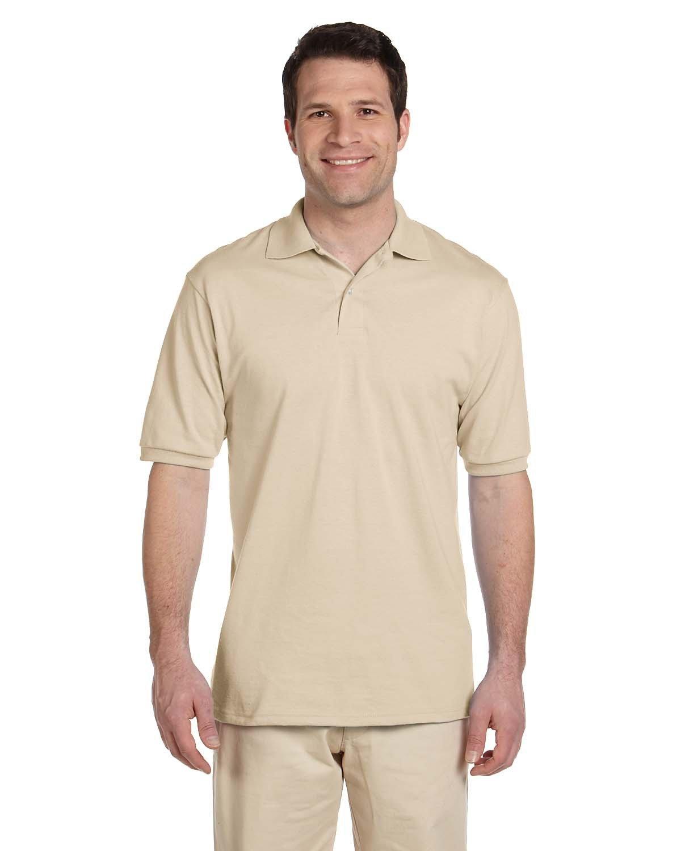 Jerzees Adult SpotShield™ Jersey Polo SANDSTONE