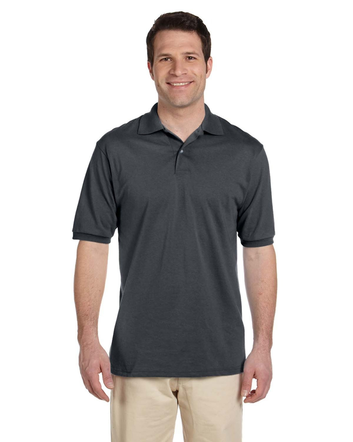 Jerzees Adult SpotShield™ Jersey Polo CHARCOAL GREY