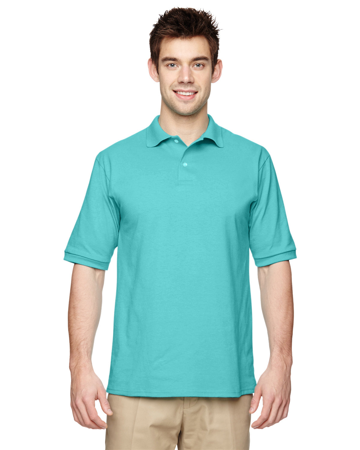 Jerzees Adult SpotShield™ Jersey Polo SCUBA BLUE
