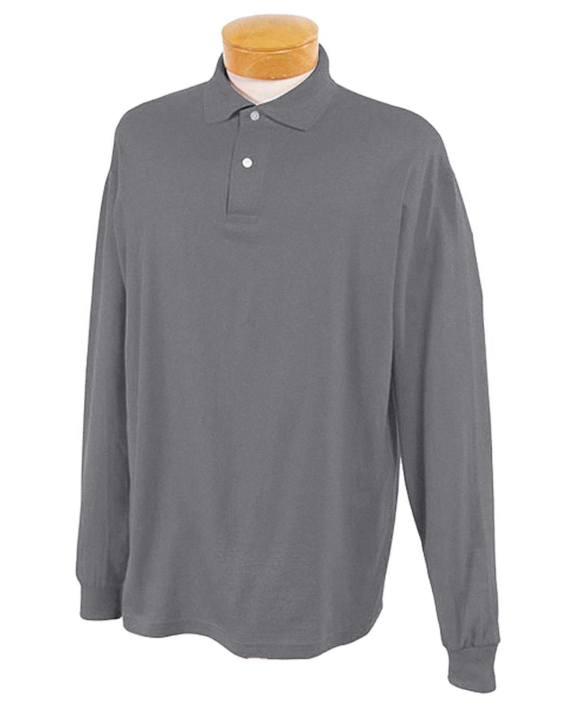 Jerzees Adult SpotShield™ Long-Sleeve Jersey Polo OXFORD