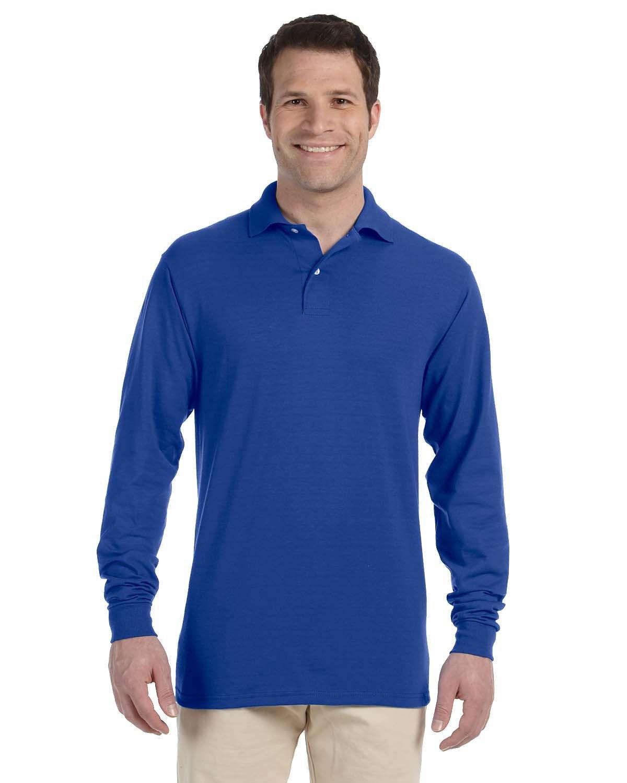 Jerzees Adult SpotShield™ Long-Sleeve Jersey Polo ROYAL