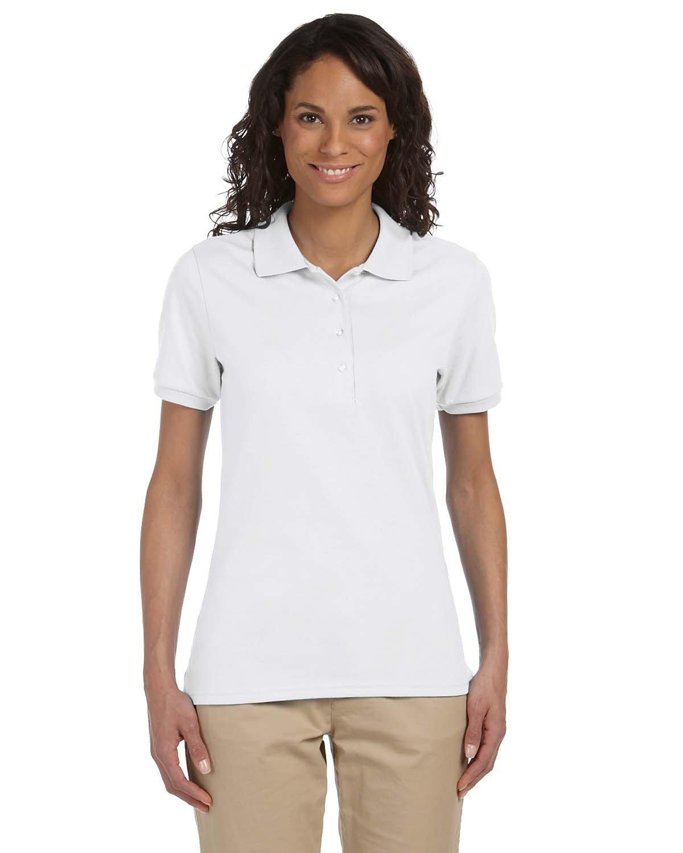 Jerzees Ladies' SpotShield™ Jersey Polo WHITE