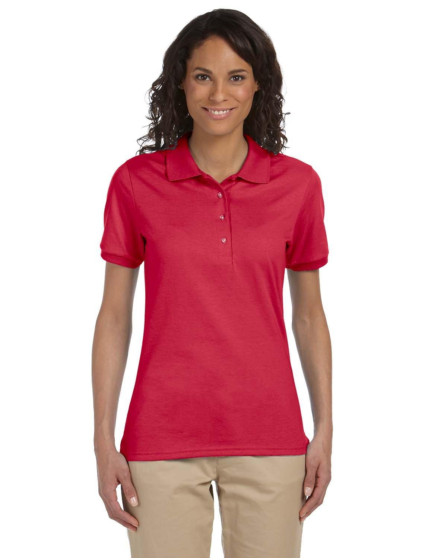 Jerzees Ladies' SpotShield™ Jersey Polo TRUE RED