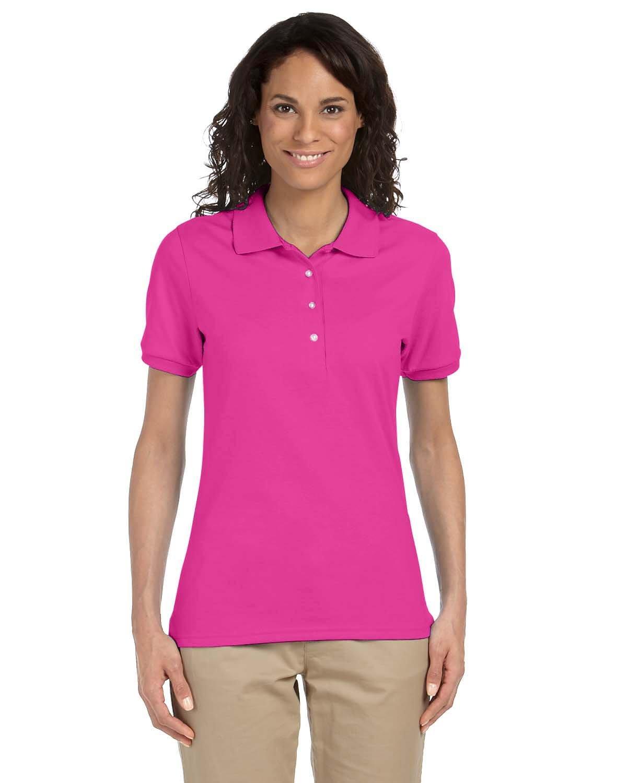 Jerzees Ladies' SpotShield™ Jersey Polo CYBER PINK