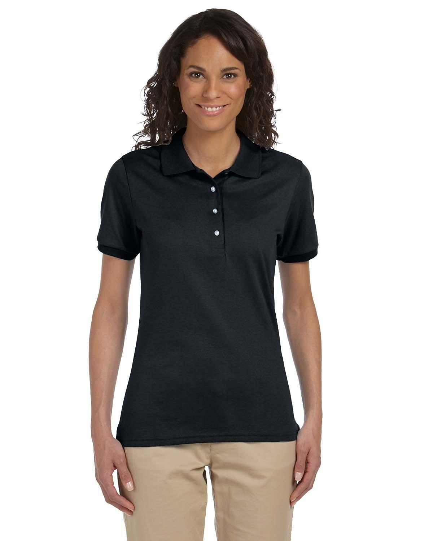 Jerzees Ladies' SpotShield™ Jersey Polo BLACK
