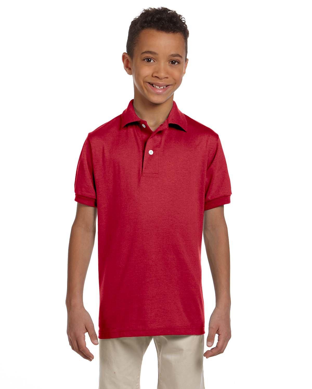 Jerzees Youth SpotShield™ Jersey Polo TRUE RED
