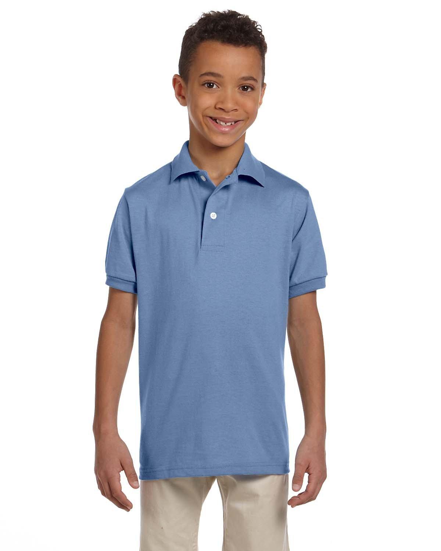Jerzees Youth SpotShield™ Jersey Polo LIGHT BLUE