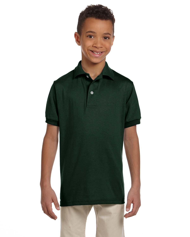 Jerzees Youth SpotShield™ Jersey Polo FOREST GREEN