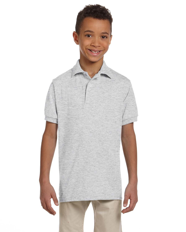 Jerzees Youth SpotShield™ Jersey Polo ASH