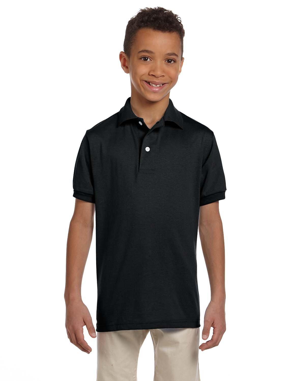 Jerzees Youth SpotShield™ Jersey Polo BLACK