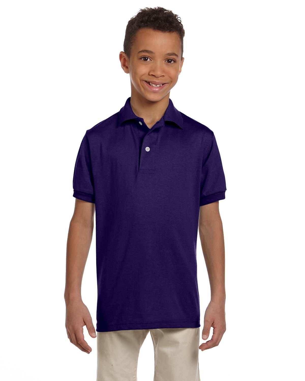 Jerzees Youth SpotShield™ Jersey Polo DEEP PURPLE