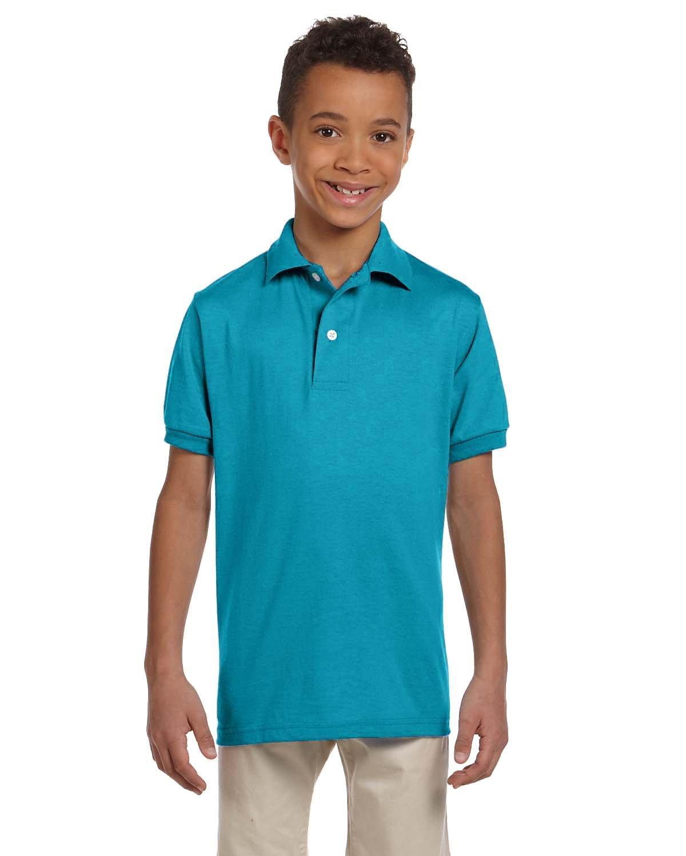 Jerzees Youth SpotShield™ Jersey Polo CALIFORNIA BLUE