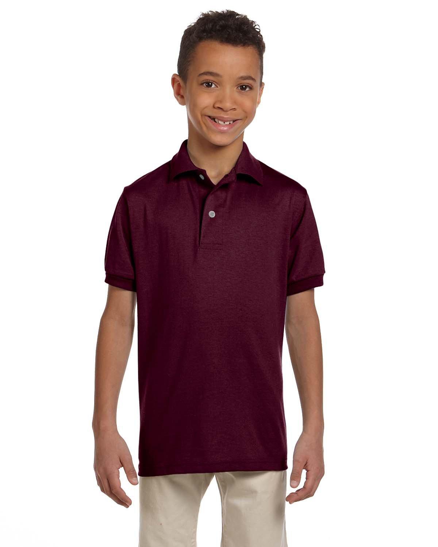 Jerzees Youth SpotShield™ Jersey Polo MAROON