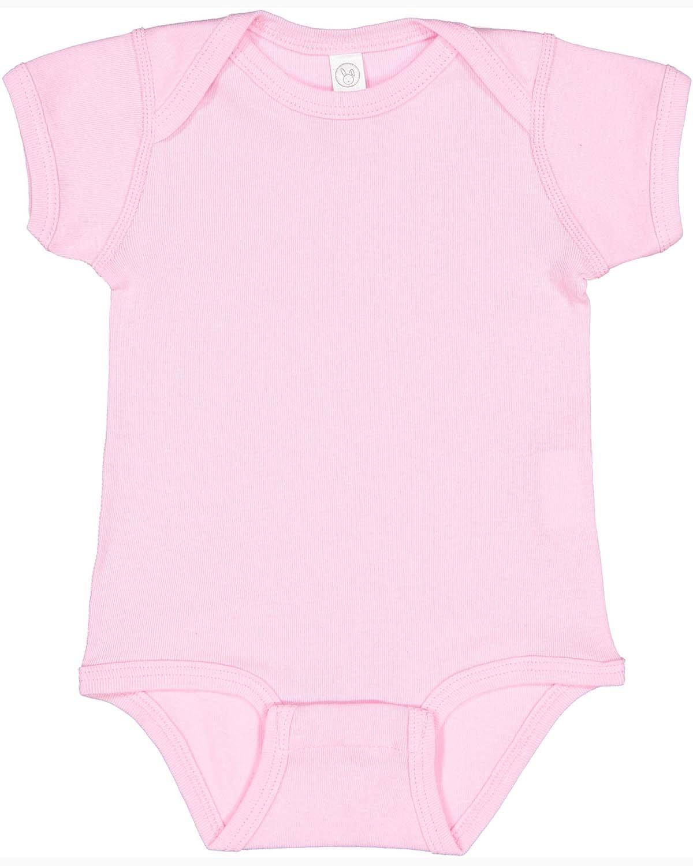 Rabbit Skins Infant Baby Rib Bodysuit PINK