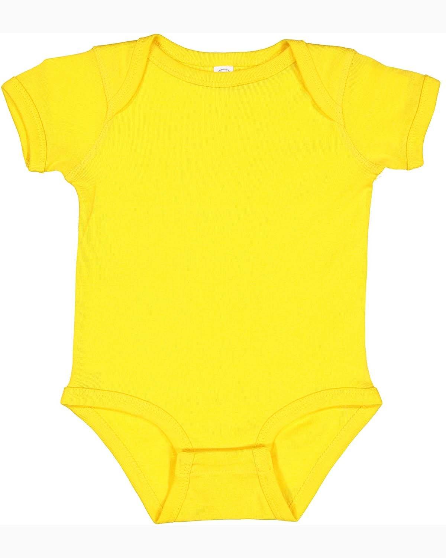 Rabbit Skins Infant Baby Rib Bodysuit YELLOW
