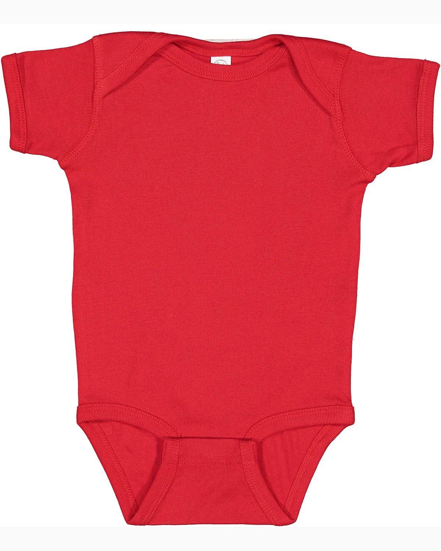 Rabbit Skins Infant Baby Rib Bodysuit RED