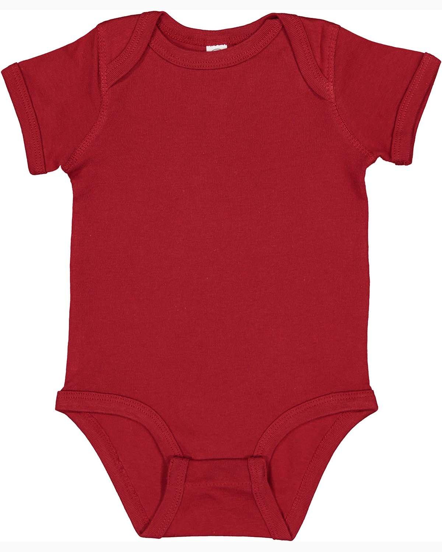 Rabbit Skins Infant Baby Rib Bodysuit GARNET