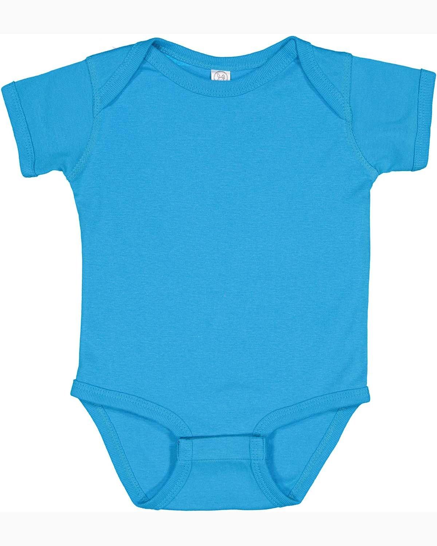 Rabbit Skins Infant Baby Rib Bodysuit AQUA
