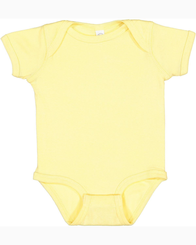 Rabbit Skins Infant Baby Rib Bodysuit BANANA