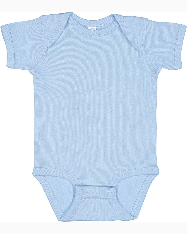 Rabbit Skins Infant Baby Rib Bodysuit LIGHT BLUE