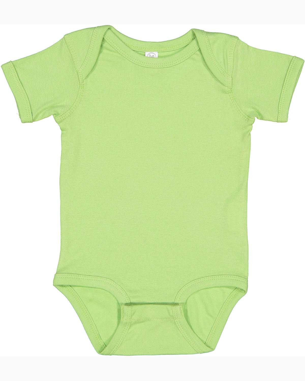 Rabbit Skins Infant Baby Rib Bodysuit KEY LIME