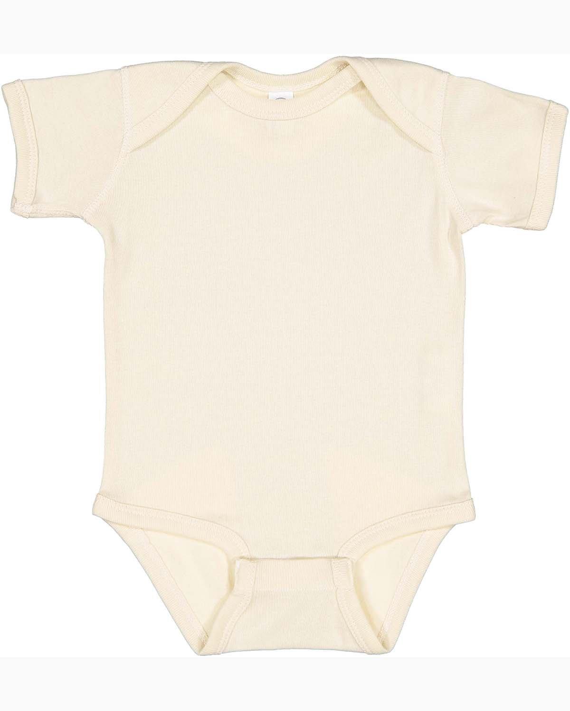 Rabbit Skins Infant Baby Rib Bodysuit NATURAL