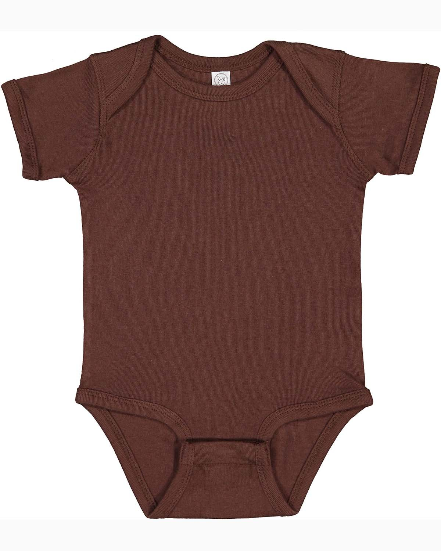 Rabbit Skins Infant Baby Rib Bodysuit BROWN