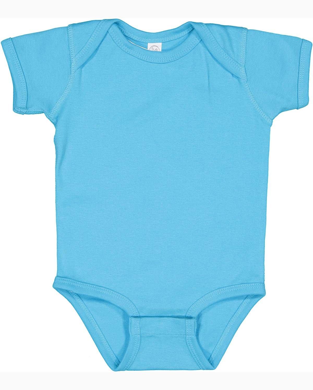 Rabbit Skins Infant Baby Rib Bodysuit TURQUOISE