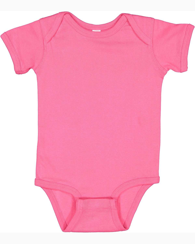 Rabbit Skins Infant Baby Rib Bodysuit HOT PINK