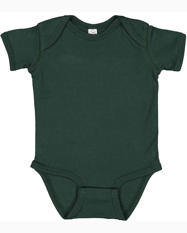 Rabbit Skins Infant Baby Rib Bodysuit FOREST