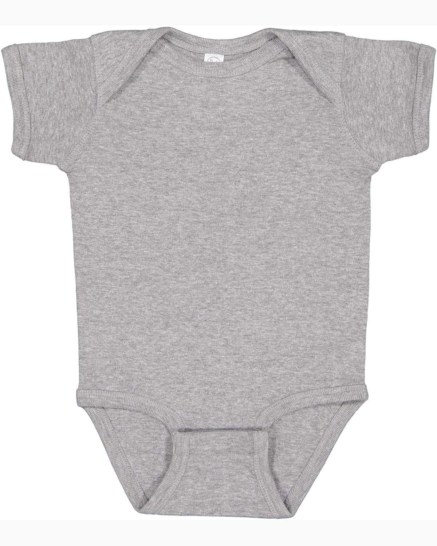 Rabbit Skins Infant Baby Rib Bodysuit HEATHER