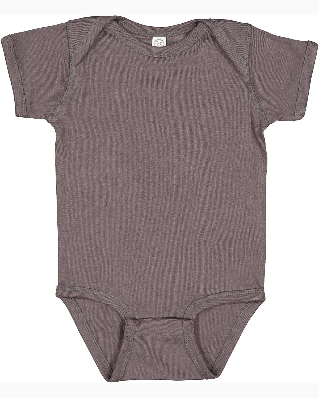Rabbit Skins Infant Baby Rib Bodysuit CHARCOAL