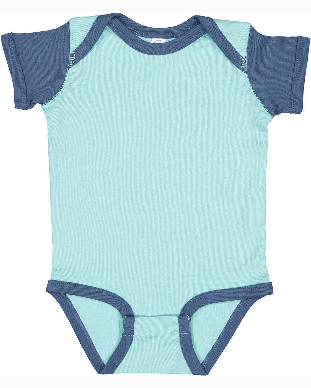 Rabbit Skins Infant Baby Rib Bodysuit CHILL/ INDIGO